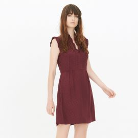 Jasmine Dot Print Dress at Sandro