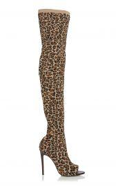 Jasmine Leopard-Print Stretch-Knit Thigh Boots by Victoria Beckham at Moda Operandi