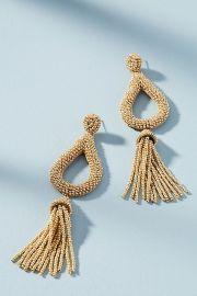 Jasmine Tassel Drop Earrings at Anthropologie