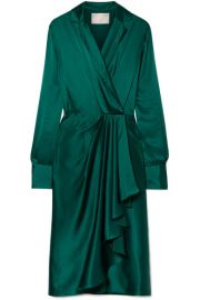 Jason Wu   Wrap-effect silk-charmeuse dress at Net A Porter
