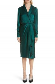 Jason Wu Surplice Silk Charmeuse Dress x at Nordstrom
