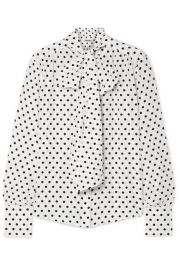 Jason Wu - Pussy-bow polka-dot silk crepe de chine blouse at Net A Porter