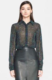 Jason Wu Abstract Print Silk Georgette Blouse at Nordstrom
