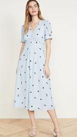 Jason Wu Berry Gathered Sleeve Vneck Dress at Shopbop