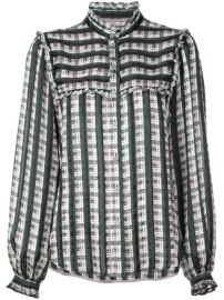 Jason Wu Check Print Ruffled Shirt - Farfetch at Farfetch