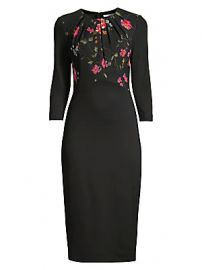 Jason Wu Collection - Floral Vine Stretch Ponte Sheath Dress at Saks Fifth Avenue