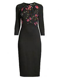 Jason Wu Collection - Floral Vine Stretch Ponte Sheath Dress at Saks Fifth Avenue