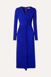 Jason Wu Collection - Twist-front stretch-jersey midi dress at Net A Porter