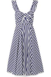 Jason Wu Collection - Twist-front striped cotton-poplin midi dress at Net A Porter