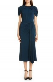 Jason Wu Collection Cap Sleeve Draped Jersey Midi Dress   Nordstrom at Nordstrom
