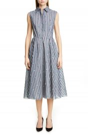 Jason Wu Collection Floral Stripe Cotton  amp  Silk Dress   Nordstrom at Nordstrom