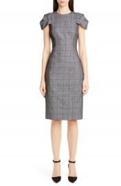 Jason Wu Collection Lace Overlay Glen Plaid Sheath Dress   Nordstrom at Nordstrom