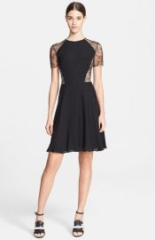 Jason Wu Floral Lace andamp Silk Georgette Dress at Nordstrom