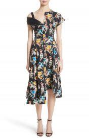 Jason Wu Floral Print Asymmetrical Cotton Dress at Nordstrom