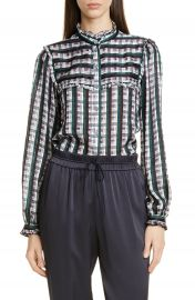 Jason Wu Plaid Ruffle Blouse   Nordstrom at Nordstrom