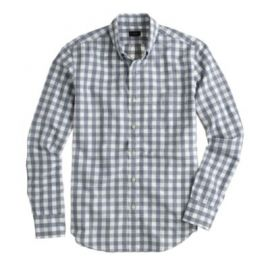 Jaspandeacute cotton shirt in gingham at J. Crew
