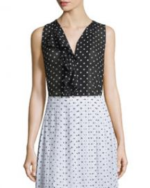 Jastrid Haze Dot-Print Sleeveless Top at Neiman Marcus