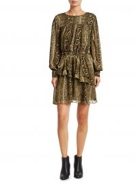 Java Python Print Mini A-Line Dress at Saks Fifth Avenue