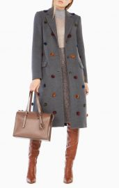 Jaxson Pom Pom Coat at Bcbg