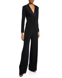 Jay Godfrey Roland V-Neck Long-Sleeve Tuxedo Jumpsuit at Neiman Marcus