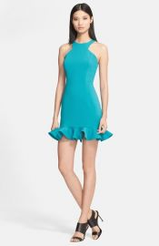 Jay Godfrey and39Abigailand39 Racerfront Stretch Crepe Dress at Nordstrom