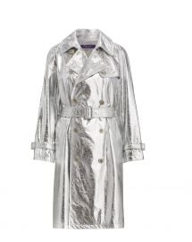 Jayne Metallic Leather Trench at Orchard Mile