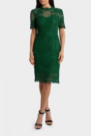 Jayson Brundson Cap Sleeve Green Lace Dress at Myer