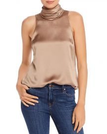 Jazlyn Silk Draped Neck Top by Cinq a Sept at Bloomingdales
