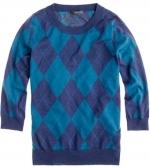 Jcrew argyle sweater on New Girl at J. Crew