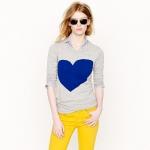 Jcrew heart sweater at J. Crew