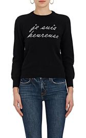 Je Suis Heureuse Cashmere Sweater by Lisa Perry at Barneys