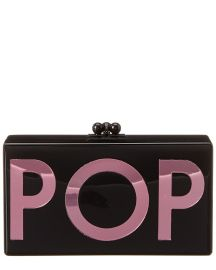 Jean Pop Acrylic Clutch by Edie Parker at Blue Fly
