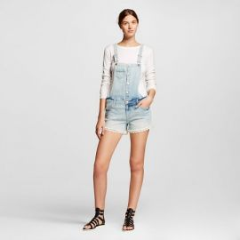 Jean Shortalls with lace at Target