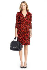 Jeanne Dress in Lips Print at DvF