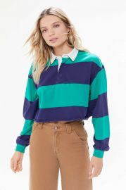 Jefferson Cropped Rugby Shirt by Urban Outfitters at Urban Outfitters