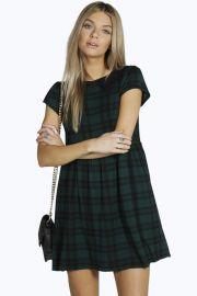 Jen Tartan dress at Boohoo