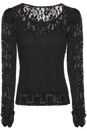 Jenna gathered stretch-lace top at The Outnet