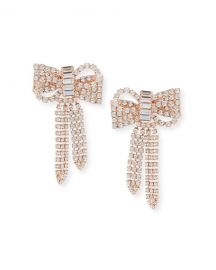 Jennifer Behr Lola Crystal Bow Earrings at Neiman Marcus