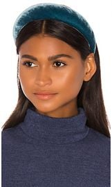 Jennifer Behr Thada Velvet Headband in Azul from Revolve com at Revolve