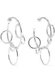 Jennifer Fisher - Quad Hoops silver-plated earrings at Net A Porter