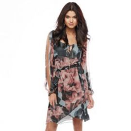 Jennifer Lopez Collection Floral Chiffon Dress at Kohls