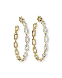Jennifer Zeuner Carmine Enamel Medium Hoop Earrings at Neiman Marcus