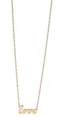 Jennifer Zeuner Jewelry Cursive LOVE Necklace at Shopbop
