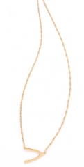 Jennifer Zeuner Jewelry Mini Wishbone Necklace at Shopbop