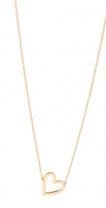 Jennifer Zeuner heart necklace at Shopbop