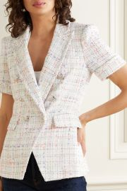 Jenny Dickey double-breasted tweed blazer at Net A Porter
