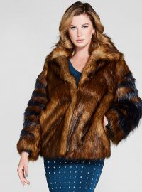 Jensey Faux Fur Coat at Guess