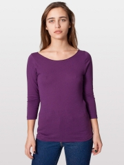 Jersey Boat Neck Tee at American Apparel