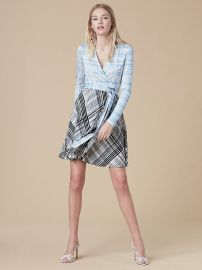Jersey Combo Wrap Dress at DvF