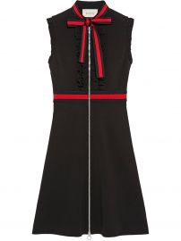 Jersey Dress with Web Trim by Gucci at Farfetch